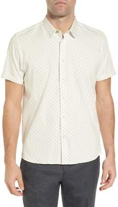 Ted Baker Short Sleeve Franko Print Regular Fit Sport Shirt