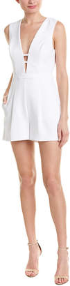 BCBGMAXAZRIA Pleated Romper