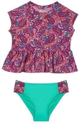 Hula Star Paisley Dream Two-Piece Rashguard Swimsuit