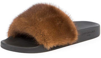 Givenchy Mink Fur Slide Sandal