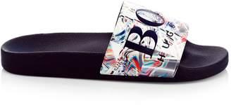 HUGO BOSS Solar Logo Slide Sandals