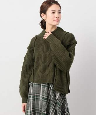 CLANE JOINT WORKS cropped 3D knit tops◇