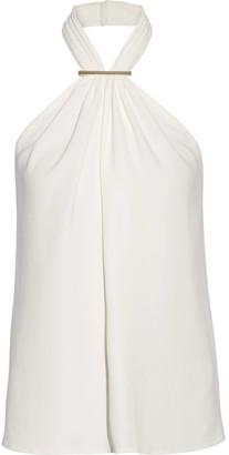 Jason Wu - Embellished Stretch-cady Halterneck Top - Ivory $795 thestylecure.com