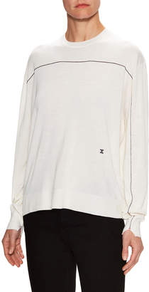 Celine Cashmere Trimmed Drop Shoulder Sweater