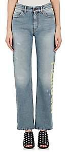 Fiorucci Women's Bella Logo Straight Crop Jeans-Lt. Blue Size 24
