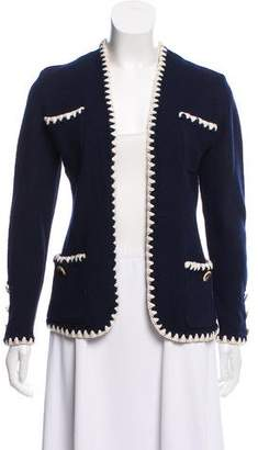 St. John Long Sleeve Open Front Cardigan