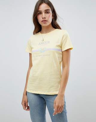New Look Amour Lemon Slogan T-Shirt