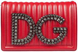 Dolce & Gabbana Embellished Logo Shoulder Bag