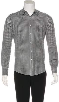 Golden Goose Gingham Button-Up Shirt