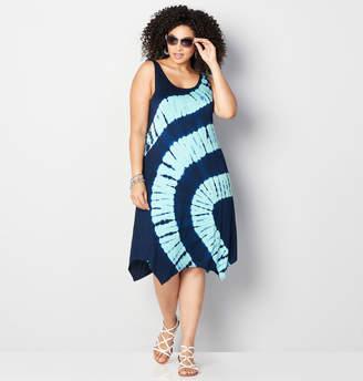 Avenue Criss Cross Tie Dye A-Line Dress