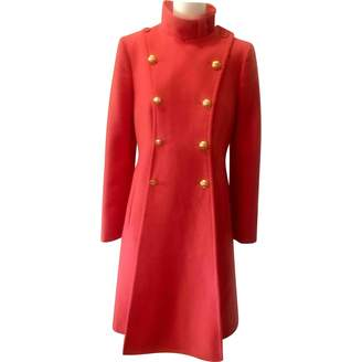 Emporio Armani Orange Wool Coats