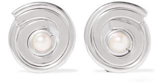 Annie Costello Brown - Novus Sterling Silver Pearl Clip Earrings