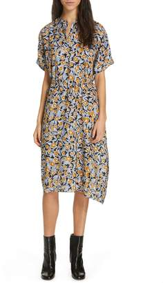 Christian Wijnants Dipha Floral Print Silk Dress