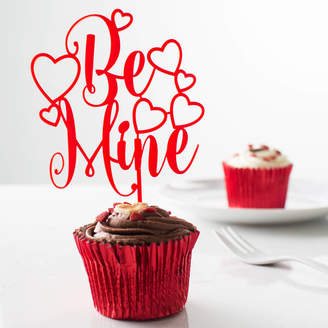 Twenty-Seven Be Mine Valentine's Day Acrylic Cake Topper