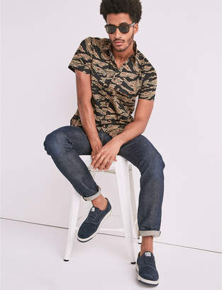Lucky Brand Seersucker Camo Workwear Shirt