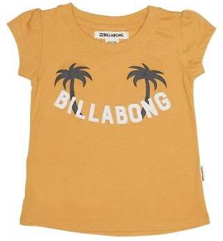 Billabong New Girls Tots Girls Darcy Tee Cotton Pu Yellow