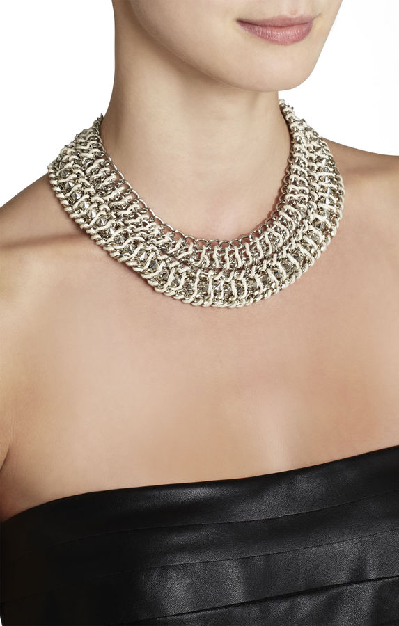 BCBGMAXAZRIA Woven-Chain Spike Necklace