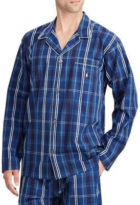 Ralph Lauren Plaid Cotton Pajama Top
