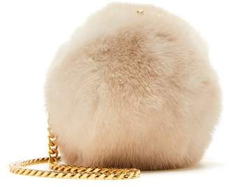 Oscar de la Renta Nude Mink Billiard Bag