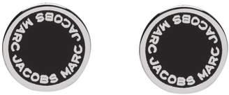 Marc Jacobs (マーク ジェイコブス) - Marc Jacobs シルバー & ブラック ロゴ スタッド ピアス