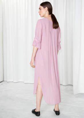 Frill Sleeve Shirt Dress