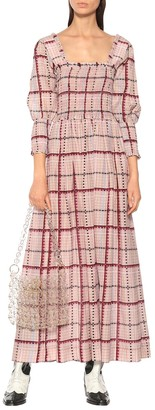 Ganni Cotton and silk midi dress