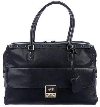 Anya Hindmarch Grommet Leather Satchel