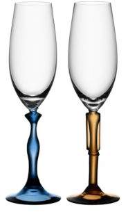 """Kosta Boda Two Of Us"""" Champagne Flute, Pair"""