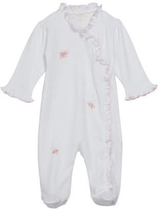Kissy Kissy Winter Rosebuds Ruffle Trim Footie Playsuit, Size Newborn-9 Months