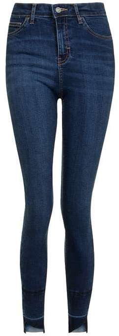 TopshopTopshop Moto asymmetric raw hem jamie jeans
