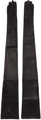 Maison Margiela Black Long Leather Gloves