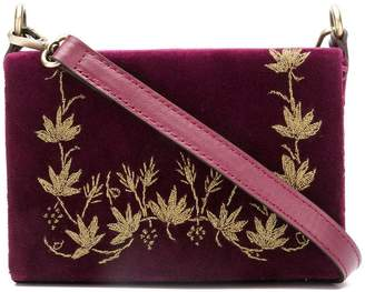 Zeus+Dione floral embroidery crossbody bag