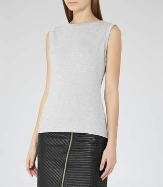 Reiss Jena Metallic Tank Top