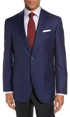 Men's David Donahue 'Connor' Classic Fit Solid Wool Sport Coat $595 thestylecure.com
