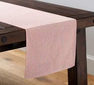 Pottery Barn Wheaton Stripe Table Runner - Red
