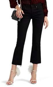 Saint Laurent Women's Kick-Flare Jeans - Black