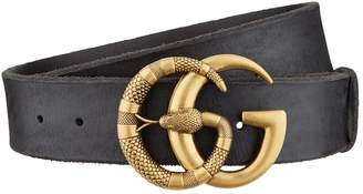Gucci Cveot Double G Snake Belt