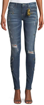Robin's Jeans Jane Skinny Jeans w/ Side Studs