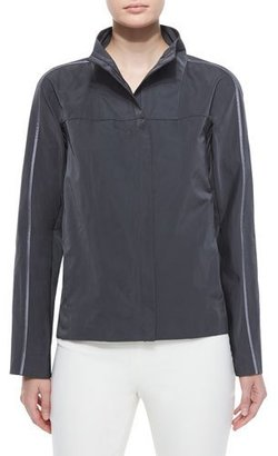 Lafayette 148 New York Kim Long-Sleeve Topper, Pewter $498 thestylecure.com