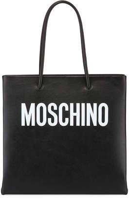 Moschino Calf Leather Tote Bag
