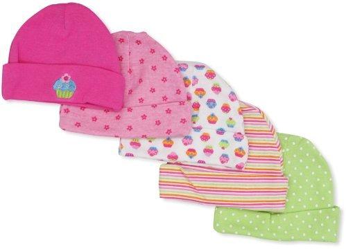 Gerber Baby-Girls Cupcakes 5 Pack Cap