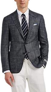 Canali Men's Kei Wool-Blend Two-Button Sportcoat - Black