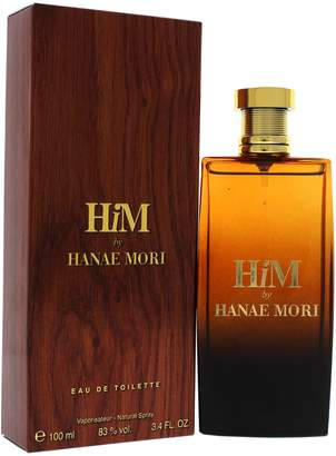 Hanae Mori Him Eau de Toilette Spray for Men, 3.4 Oz