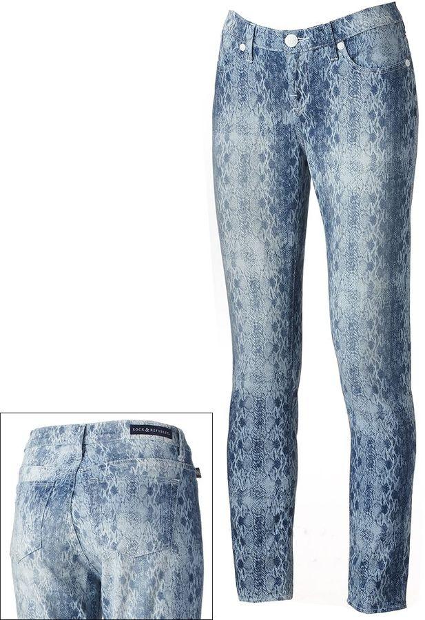 Rock & Republic berlin snakeskin skinny jeans
