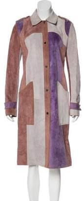 Derek Lam Leather Colorblock Coat