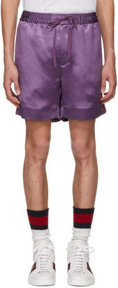 Gucci Purple Japanese Logo Shorts