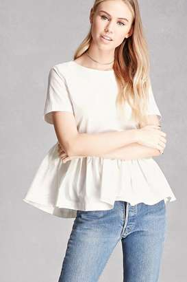 FOREVER 21+ Back-Bow Peplum Top $48 thestylecure.com