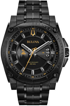 Bulova Limited Edition Men Special Edition 2017 Grammy Black Stainless Steel Bracelet Watch 46mm 98B295