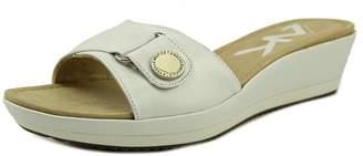 Anne Klein Sport Itemize Women US 9.5 White Slides Sandal