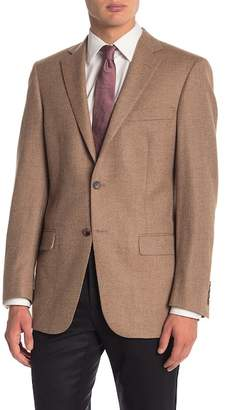 Hart Schaffner Marx Light Brown Two Button Notch Lapel Classic Fit Blazer